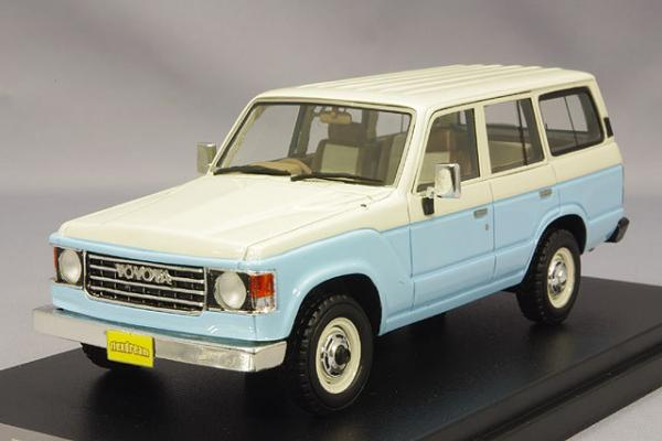 Toyota Land Cruiser 60 Flex Dream (Hi-Story) [1982г., Голубой, белый, 1:43]