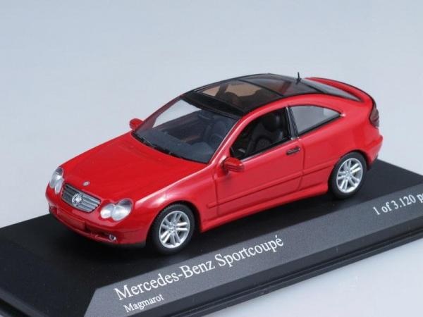 Mercades-Benz C-Class Sportcoupe (Minichamps) [2000г., Красный, 1:43]
