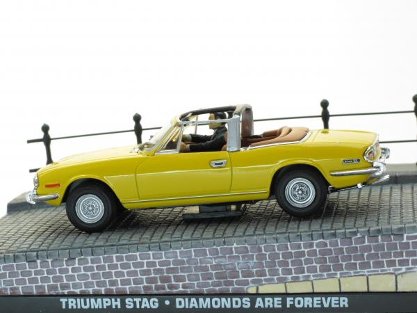 "Triumph Stag из к/ф ""Бриллианты — навсегда!"" (The James Bond Car Collection (Автомобили Джеймса Бонда)) [1968г., Желтый, 1:43]"