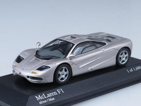 McLaren F1 GTR (Minichamps) [1993г., Серебристый металлик, 1:43]