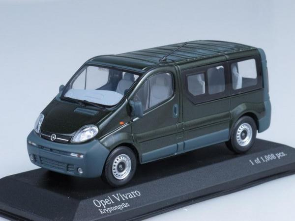Opel Vivaro Break (Minichamps) [2001г., Темно-зеленый, 1:43]