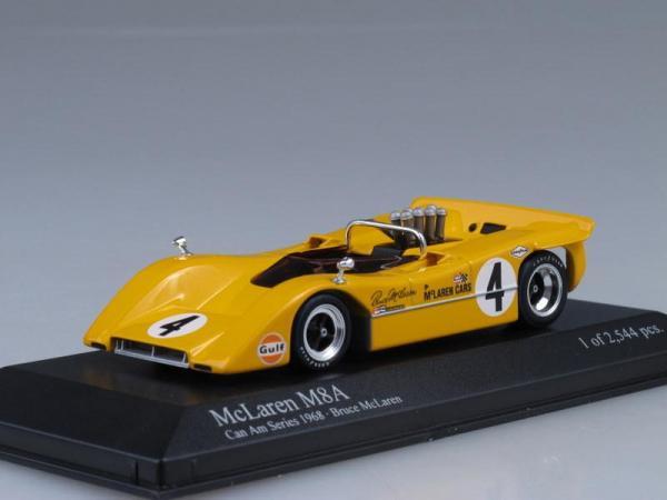 McLaren M8A CanAm (Minichamps) [1968г., Желтый, 1:43]