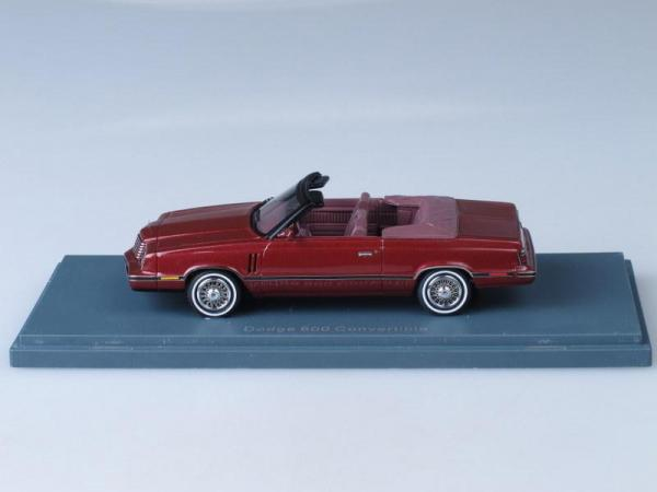 Dodge 600 Cabrio (Neo Scale Models) [1984г., Бордовый, 1:43]