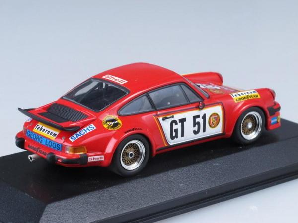Porsche 934 No.51, Winner European GT Nurburgring Hezemans (Minichamps) [1976г., Красный, 1:43]