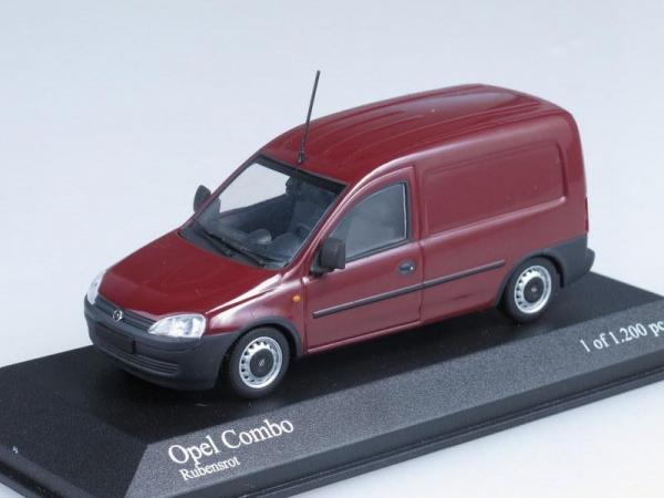 Opel Combo Van (Minichamps) [2002г., Бордовый, 1:43]
