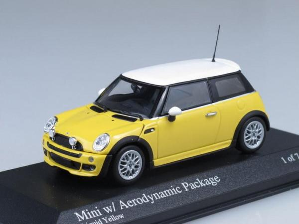 Mini One Aerodynamic Package (Minichamps) [2002г., Желтый с белым, 1:43]