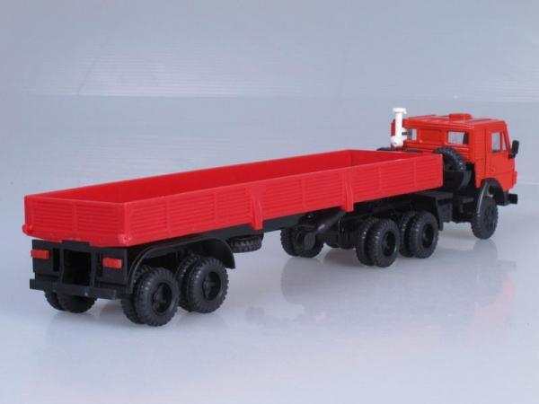 КамАЗ-5410 тягач с полуприцепом (Элекон) [1976г., Красный, 1:43]