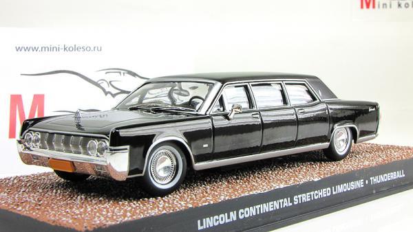 Lincoln Continental Stretched Limousine - James Bond 007 «Thunderball» (Atlas/IXO) [1965г., Черный, 1:43]