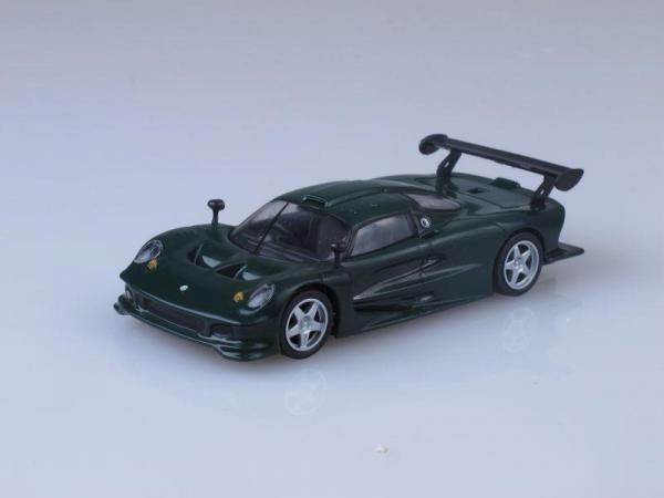 Lotus Elise GT1 (DeAgostini (Суперкары мира)) [1996г., Темно-зеленый, 1:43]