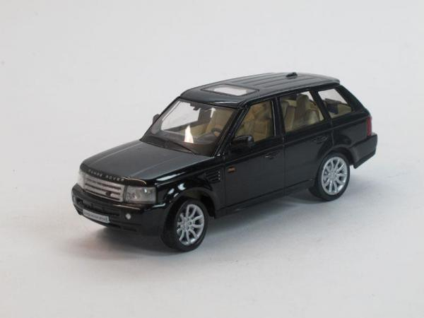 Land Rover Range Rover Sport (DeAgostini (Суперкары мира)) [2005г., Черный, 1:43]
