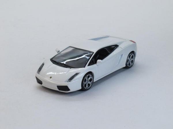 Lamborghini Gallardo (DeAgostini (Суперкары мира)) [2003г., Белый, 1:43]