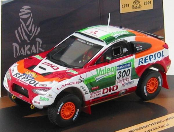 Mitsubishi Lancer Racing #300 Dakar Rally 2009 (Vitesse) [2009г., Белый, красный, оранжевый, 1:43]