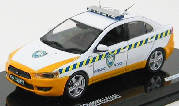 "Mitsubishi Lancer ""Precinct Patrol"" 2009 South Africa Traffic Police (Vitesse) [2007г., Белый, Желтый, 1:43]"