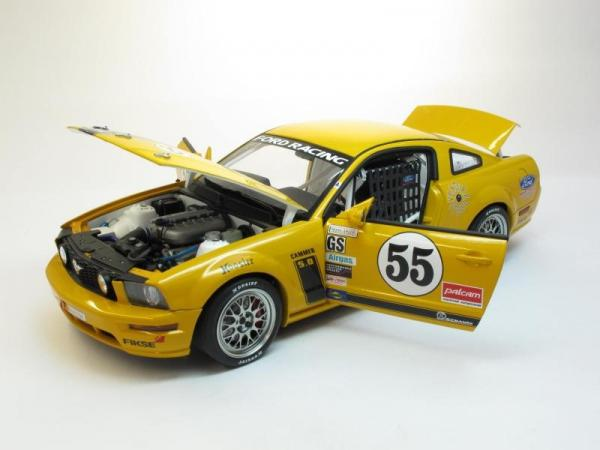Ford Mustang FR 500C No.55, Grand-Am Cup (Autoart) [2005г., Желтый, 1:18]
