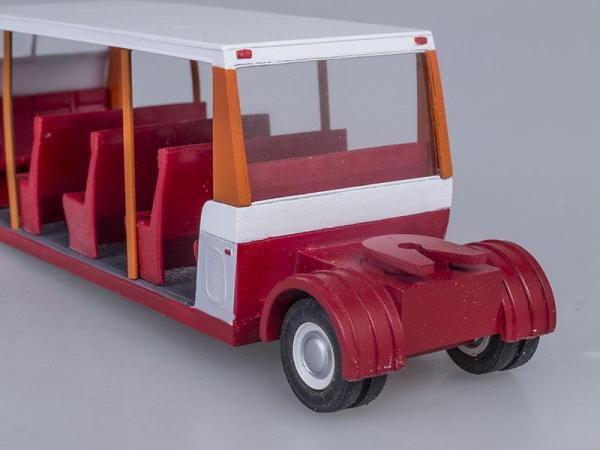 РАФ-9225 прицеп средний (Vector-Models) [1980г., Белый с оранжевым и красным, 1:43]