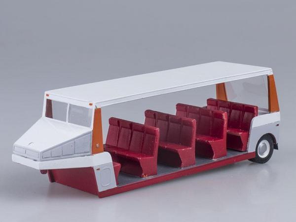 РАФ-9225 прицеп крайний (Vector-Models) [1980г., Белый с оранжевым и красным, 1:43]