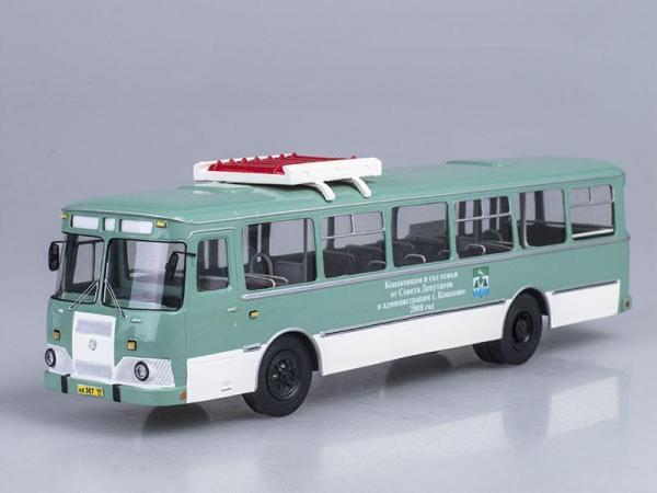 ЛиАЗ-677 МГ Конаково (Vector-Models) [2007г., Грязно-зеленый, 1:43]