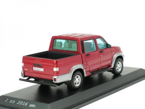 УАЗ 3163 «Патриот» Пикап 4x4 (DiP Models) [2005г., Красный, 1:43]