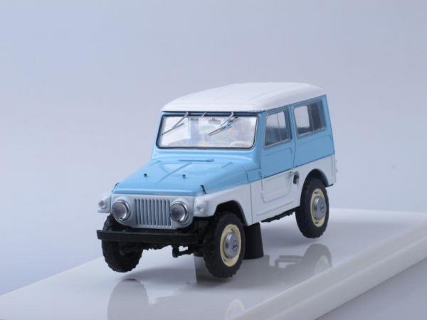 Москвич-416 (Prommodel43) [1960г., Белый с голубым, 1:43]