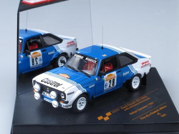Ford Escort RS1800 - #28 A.Presotto/M.Perissutti (Vitesse) [1968г., Белый с синим, 1:43]
