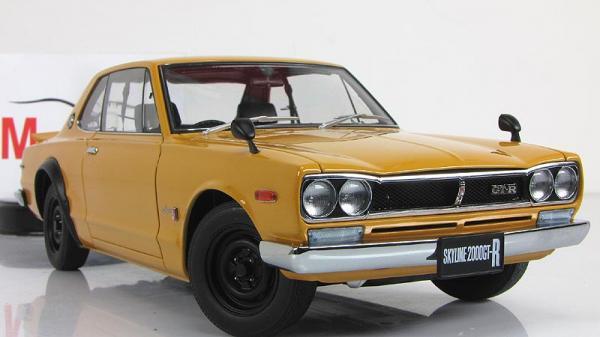 Nissan Skyline GT-R (Autoart) [1969г., Оранжевый, 1:18]