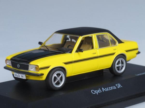 Opel Ascona SR (Schuco) [1970г., Желтый с черным, 1:43]