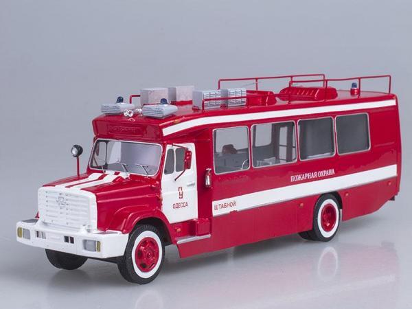 ГолАЗ - ЗИЛ 4243 пожарный штаб (Vector-Models) [2000г., Красный с белым, 1:43]