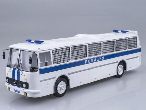 ЛАЗ-699Р Полиция (Vector-Models) [1980г., Белый с синим, 1:43]
