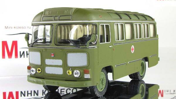 ПАЗ-672М санитарный (Советский автобус) [1982г., Хаки, 1:43]