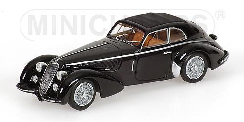 Alfa Romeo 8C 2900 B Lungo (Minichamps) [1938г., Черный, 1:43]