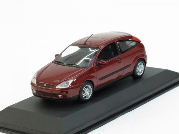 Ford Focus 3-turig (Minichamps) [1998г., Вишневый металлик, 1:43]