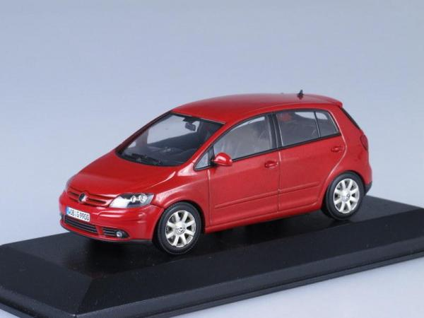 Volkswagen Golf 5 Plus (Minichamps) [2005г., Красный, 1:43]