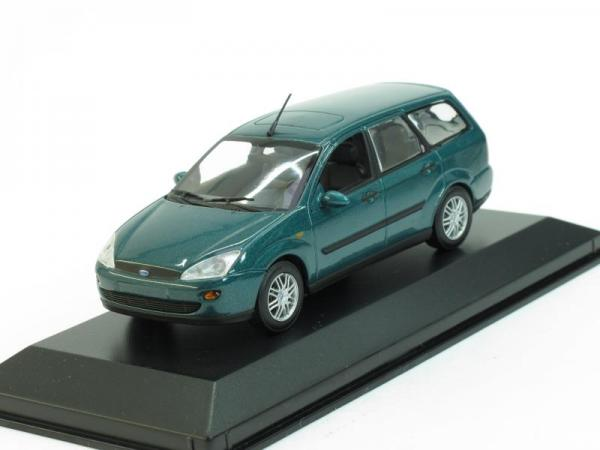 Ford Focus Turnier (Minichamps) [2002г., Темно-зеленый металлик, 1:43]