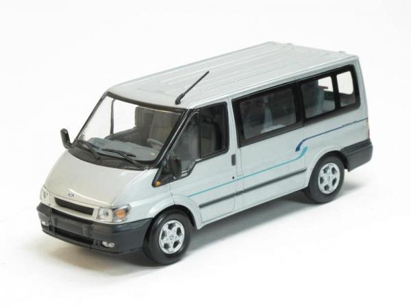 Ford Transit Bus (Minichamps) [2000г., Серебристый металлик, 1:43]