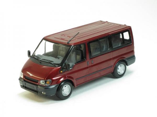 Ford Transit Bus (Minichamps) [2000г., Красный, 1:43]