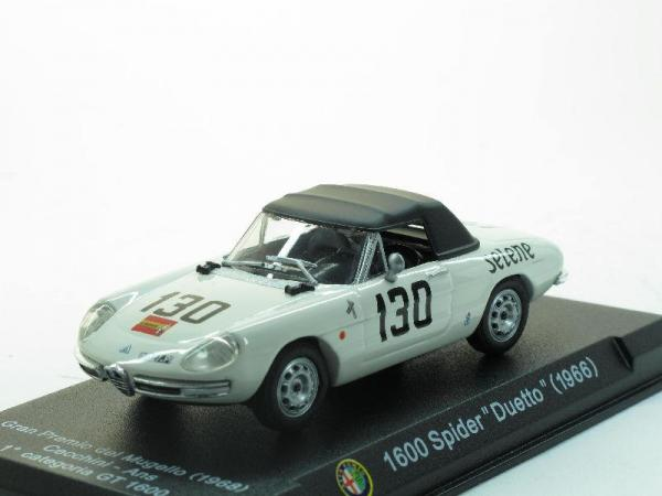 Alfa Romeo 1600 Spider Duetto - Mugello 1968 - #130 (Alfa Romeo Sport Collection) [1966г., Белый, 1:43]