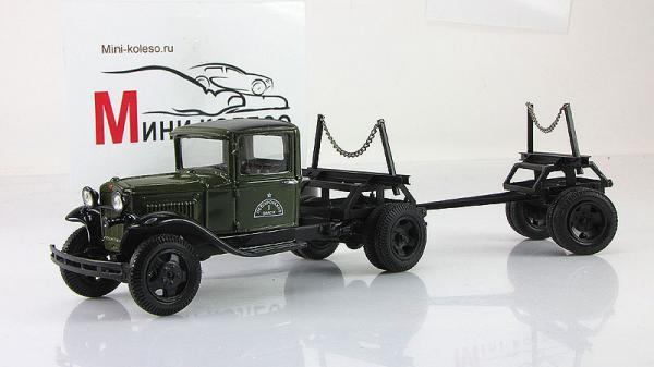 ГАЗ-АА, лесовоз (ALF) [1932г., зеленый/черный, 1:43]