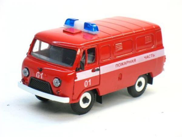 УАЗ-3741 Пожарная часть (Тантал) [1965г., Красный, 1:43]