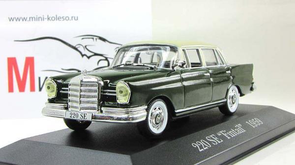 Mercedes 220SE (Altaya) [1968г., зеленый/бежевый, 1:43]