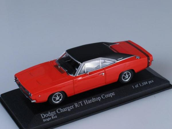 Dodge Charger Hard Top Coupe (Minichamps) [1968г., Красный, 1:43]