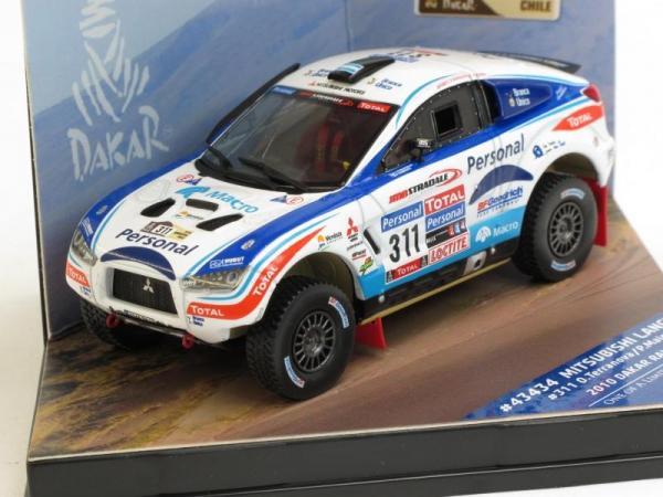 Mitsubishi Lancer - #311 O.Terranova-P.Maimon Dakar Rally (Vitesse) [2010г., Белый, 1:43]