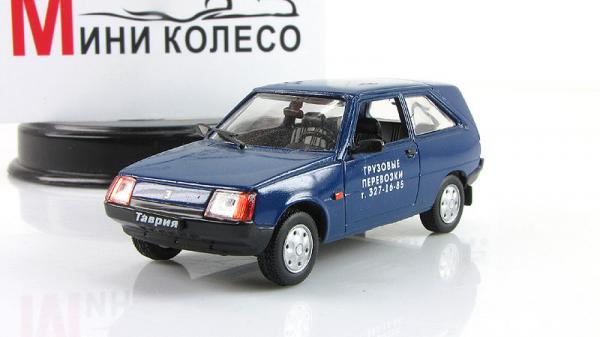 """ЗАЗ-11024 """"Таврия"""", грузовые перевозки (ALF) [1988г., Синий, 1:43]"""