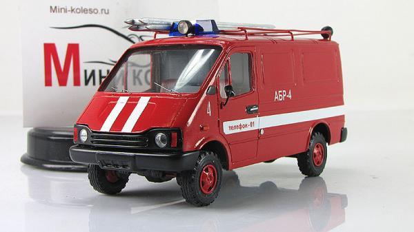БАЗ-3783, АБГ (ALF) [1993г., Красный, 1:43]