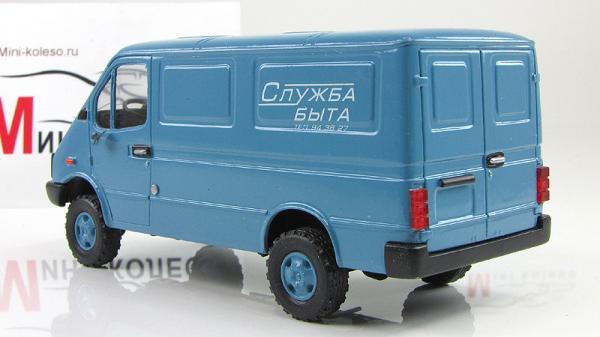 """БАЗ-3783 """"Служба быта"""" (ALF) [1993г., Голубой, 1:43]"""