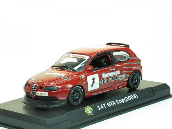 Alfa Romeo 147 GTA Cup - #1 (Alfa Romeo Sport Collection) [2003г., Красный, 1:43]