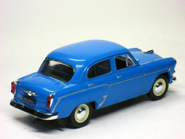 Москвич-407 (DeAgostini (Автолегенды СССР)) [1958г., Синий, 1:43]