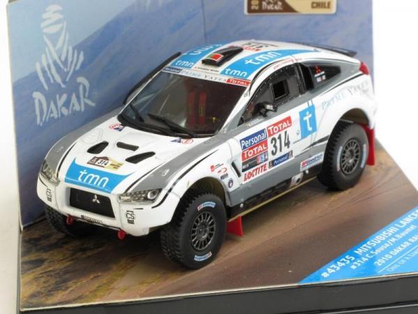 Mitsubishi Lancer - #314 C.Sousa-M.Baumel Dakar Rally (Vitesse) [2010г., Белый, 1:43]