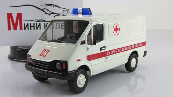 БАЗ-3783, скорая помощь (ALF) [1993г., Белый, 1:43]