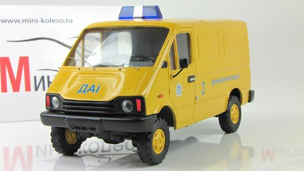 БАЗ-3783, дорожная автоинспекция (ALF) [1993г., Желтый, 1:43]