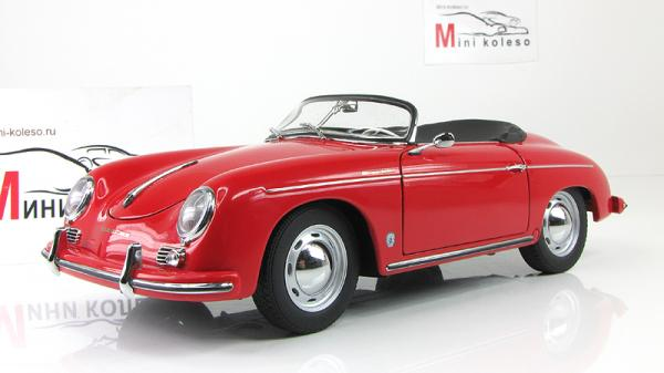 PORSCHE 356A SPEEDSTER EUROPEAN VERSION (Autoart) [1955г., Красный, 1:18]